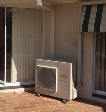 Fujitsu outdoor installation