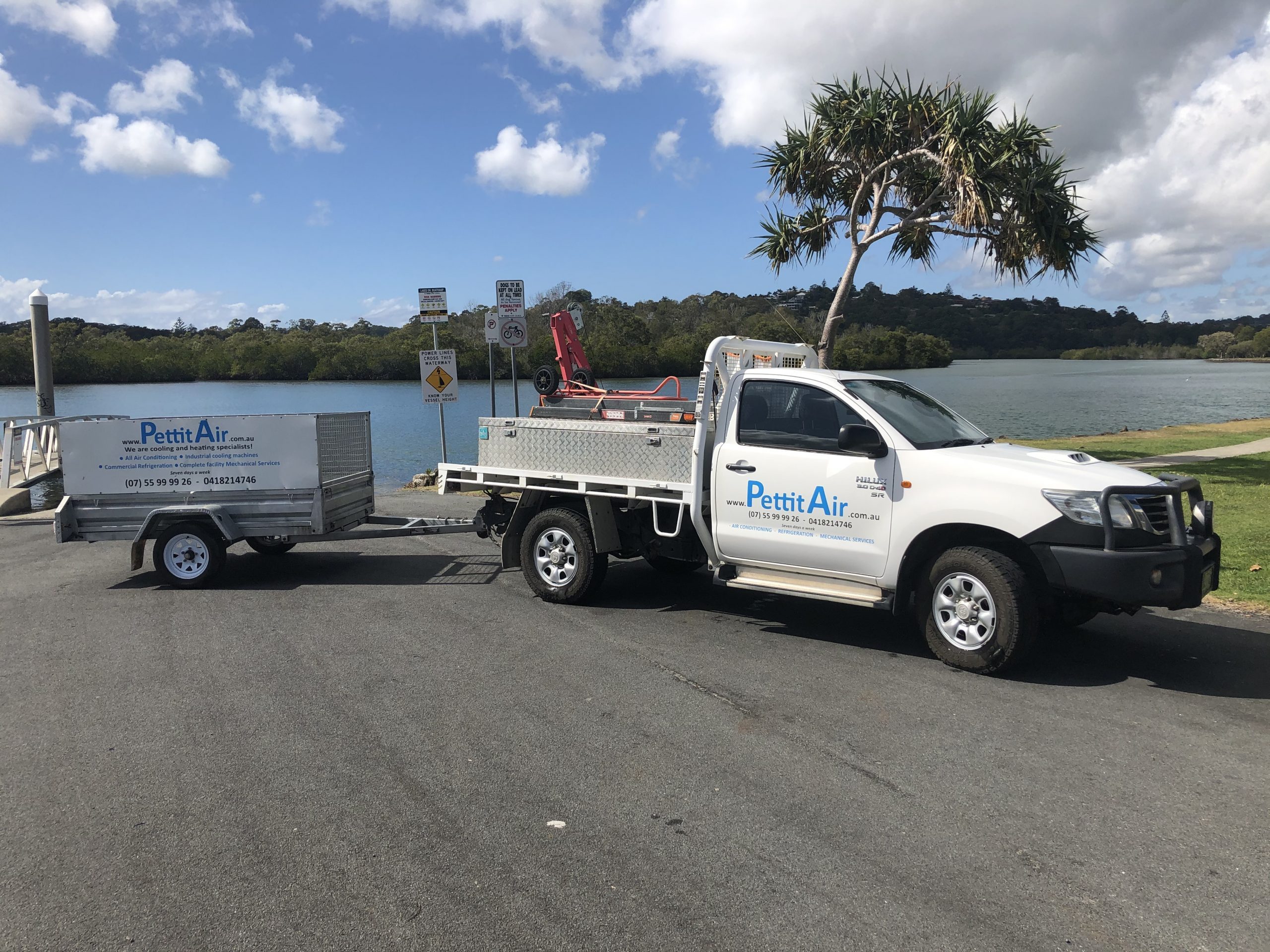 Work truck and trailer